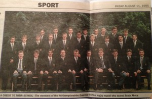 1995 1st XV Tour to South Africa