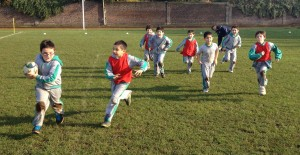 2nd Basico Boys on the run...with 2 hands on the ball...scoring lots of tries...
