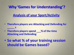 Why use TGfU...Analyse your Sport...2